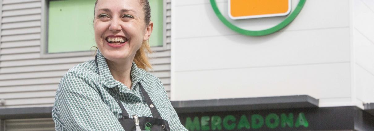 María Jesús Muñoz Mas, en las instalaciones del Mercadona de Vía Parque, ha resaltado que desde el principio han tenido todas las medidas de seguridad.
