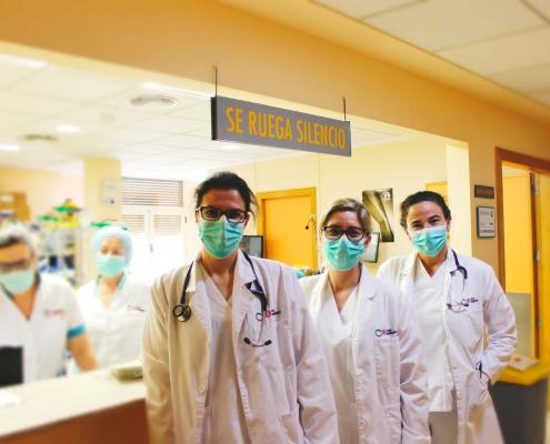 Dra. López, Dra. Carratalá y Dra. Manso