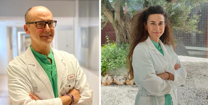 Rafael Carrasco y Eva Baró, doctores Hospitales Universitarios de Torrevieja y Vinalopó.